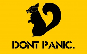 Desktop Wallpaper: Dont Panic Meme