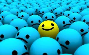 Desktop Wallpaper: Blue And Yellow Smil...
