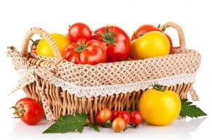Desktop Wallpaper: Orange Tomatoes Besi...