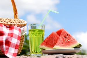 Desktop Wallpaper: Sliced Watermelon Be...