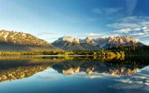 Desktop Wallpaper: Lake And Mountain La...
