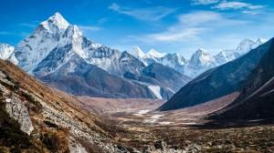 Desktop Wallpaper: Snow Mountains Under...