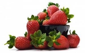 Desktop Wallpaper: Red Strawberries In ...
