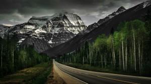Desktop Wallpaper: Blacktop Road Beside...