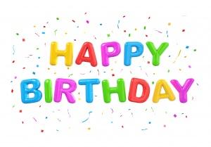 Desktop Wallpaper: Happy Birthday Logo