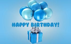 Desktop Wallpaper: Blue Birthday Gift