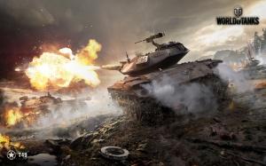 Desktop Wallpaper: Grey Army Tanks On B...