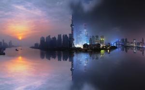 Desktop Wallpaper: View Of Skyline Duri...