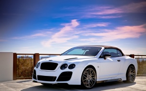 Desktop Wallpaper: White Bentley Contin...