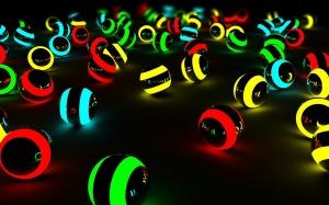 Desktop Wallpaper: Lit Colored Balls