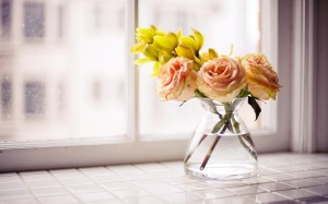 Desktop Wallpaper: Orange Roses And Yel...