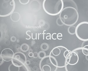 Microsoft Surface With Grey Background And White Circles - скачать обои на рабочий стол