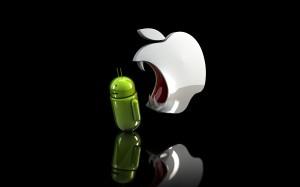Desktop Wallpaper: Apple Logo Eating An...