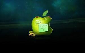 Desktop Wallpaper: Green Apple Logo