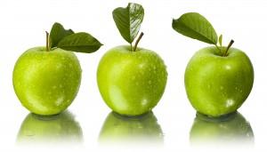 Desktop Wallpaper: 3 Green Apple Fruits