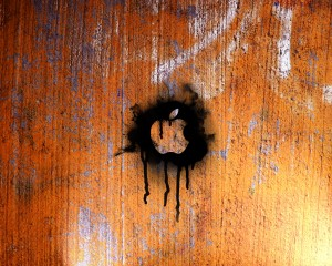Black And Brown Apple Logo Illustration - скачать обои на рабочий стол