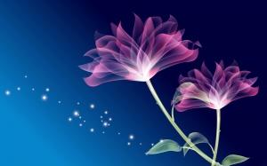Desktop Wallpaper: Purple Flower Wall A...