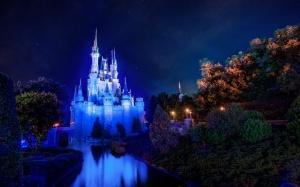 Desktop Wallpaper: Lighte Disney Castle...
