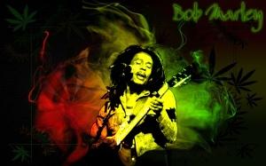 Desktop Wallpaper: Bob Marley Playing G...