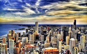 Desktop Wallpaper: City And Sky Illustr...
