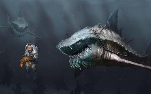 Desktop Wallpaper: Diver Holding Crab B...