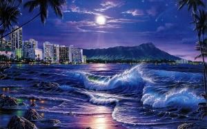 Desktop Wallpaper: Blue Shore Line Unde...