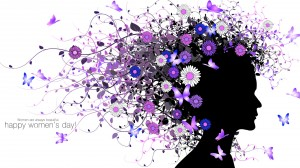 Desktop Wallpaper: Woman Vector Floral ...