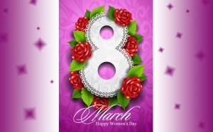 Desktop Wallpaper: 8 March Happy Women