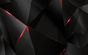 Desktop Wallpaper: Black and red crysta...