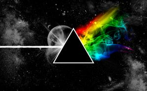 Desktop Wallpaper: Black triangle illus...