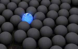 Desktop Wallpaper: Blue light ball