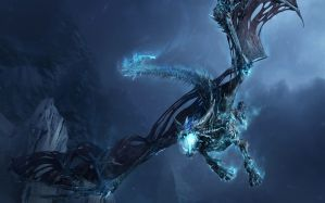Desktop Wallpaper: Black dragon