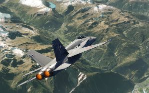 Desktop Wallpaper: Grey fighter plane