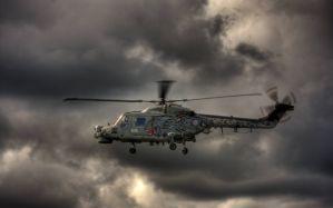 Desktop Wallpaper: Grey helicopter