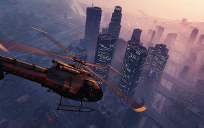 Desktop Wallpaper: GTA 5 helicopter