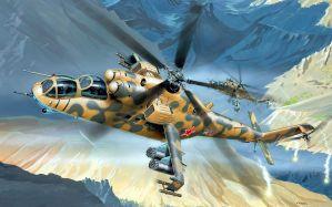 Desktop Wallpaper: Mi 24 helicopter