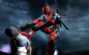 Desktop Wallpaper: Deadpool illustratio...