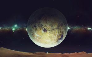 Desktop Wallpaper: Moon illustration