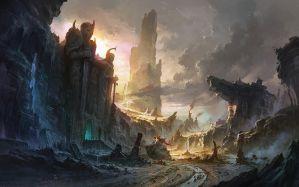 Desktop Wallpaper: Ancient castle paint...