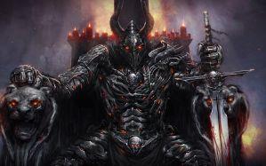 Desktop Wallpaper: Black horned holding...