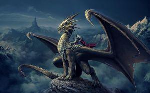 Desktop Wallpaper: Dragon illustration