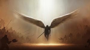 Desktop Wallpaper: Winged male characte...