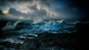 Desktop Wallpaper: Sea waves illustrati...
