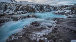 Desktop Wallpaper: Waterfalls time laps...