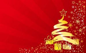 Desktop Wallpaper: Yellow christmas tre...