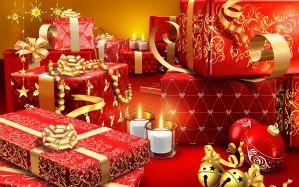 Desktop Wallpaper: Giftboxes, tealights...
