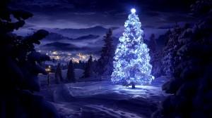 White glowing tree poster - скачать обои на рабочий стол