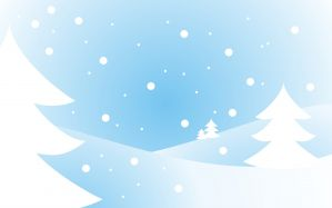 Desktop Wallpaper: Snow coated area wit...