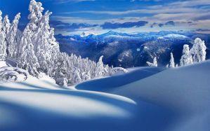 Snow field - скачать обои на рабочий стол