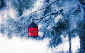 Desktop Wallpaper: Black and red lanter...